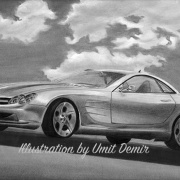 Mercedes, Car - Illustrations by Umit Demir