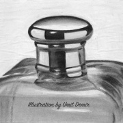 Perfume Bottle - Illustrations by Umit Demir