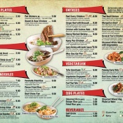 Take Out Menu Design Services