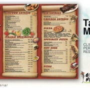 Restaurant Take Out Menu Deisgn