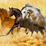 Horses 2 - Illustrations by Umit Demir - Watercolor