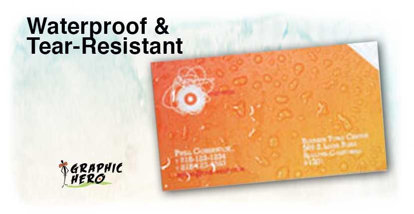 waterproof business cards  weatherproof and tear resistant