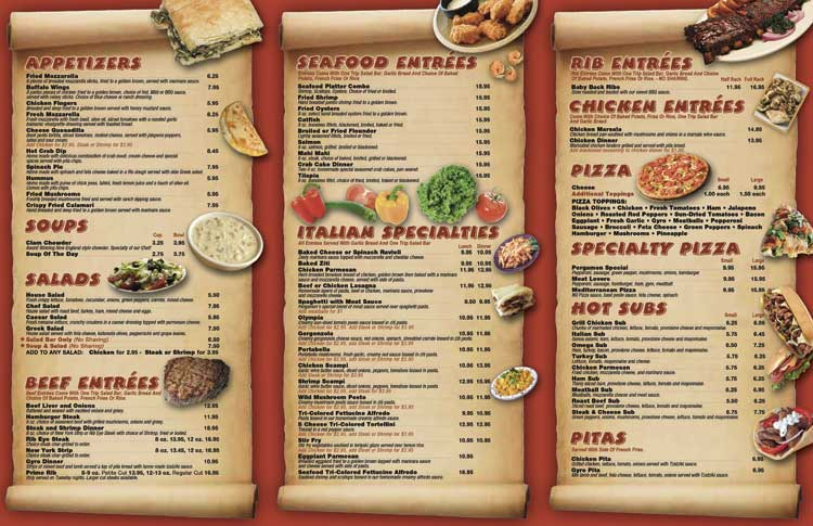Waterproof and tear resistant restaurant and pizza store for Take out menu