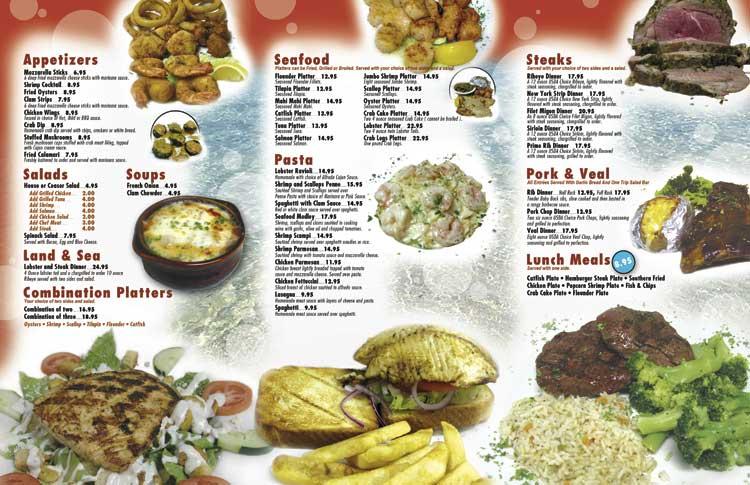 Premium restaurant take out menus