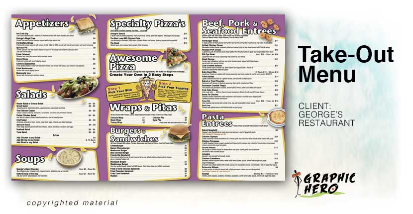 Take out menus graphic hero for Take out menu